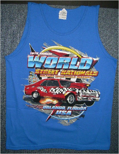 World Street Nationals 2007 Tank Top  Color:Blue   Size:Medium  NEW