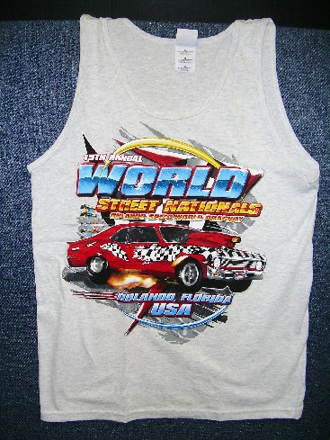 World Street Nationals 2007 Tank Top  Color:Grey  Size:Medium  NEW