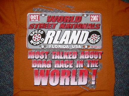 World Street Nationals 2007  T-Shirt /Color-Burnt Orange/Size:Small / NEW!