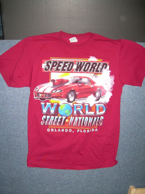 World Street Nationals 2004 T-Shirt /Color-RED /Size: M / NEW
