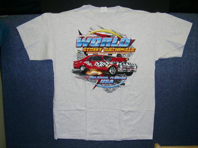 World Street Nationals 2007 T-Shirt /Color-Blue-Grey /Size: S / NEW